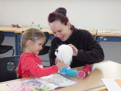 Kinderbetreuung während des Infosamstags